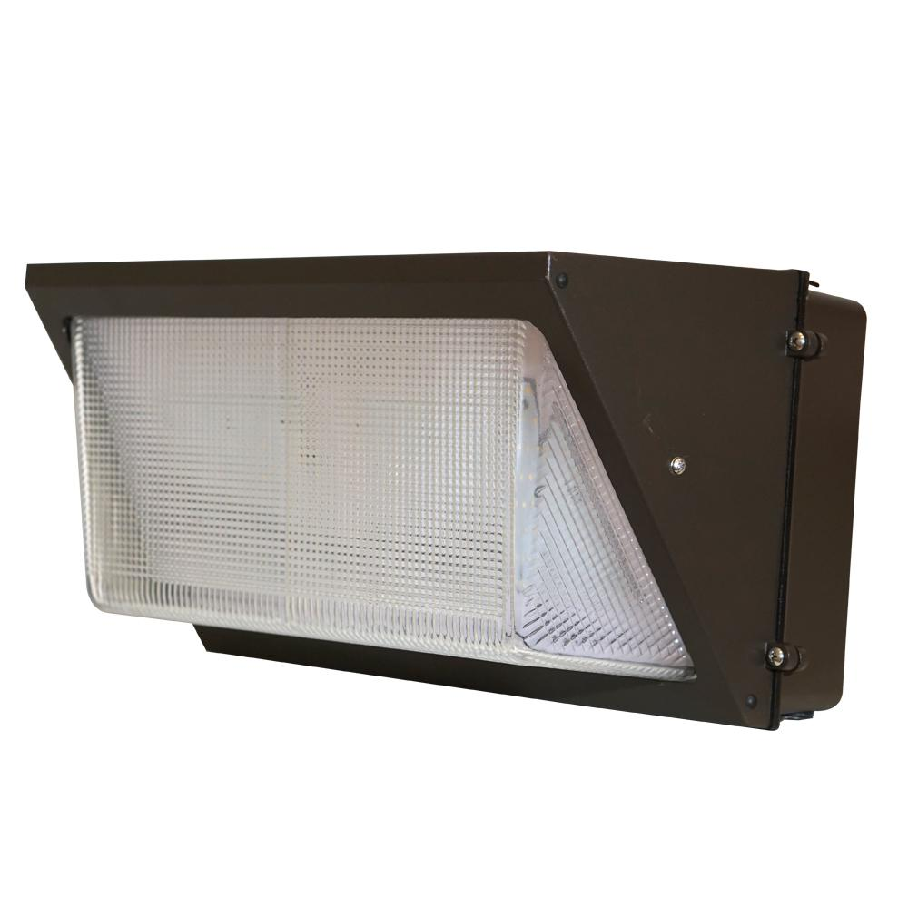 Typo Led Wall Light: Lithonia Lighting Bronze Outdoor Integrated LED Wall Pack
