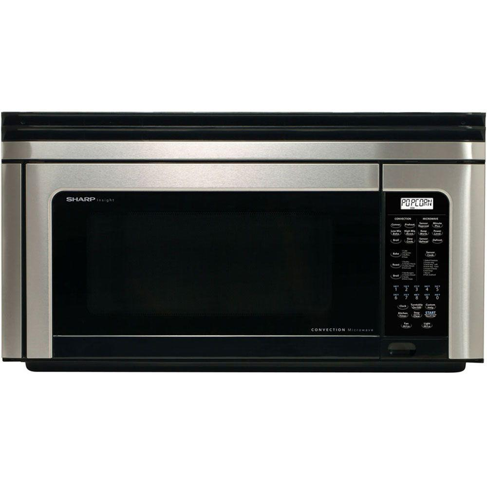 Sharp Refurbished 1.1 cu. ft. Over the Range Convection Microwave in Stainless Steel-DISCONTINUED