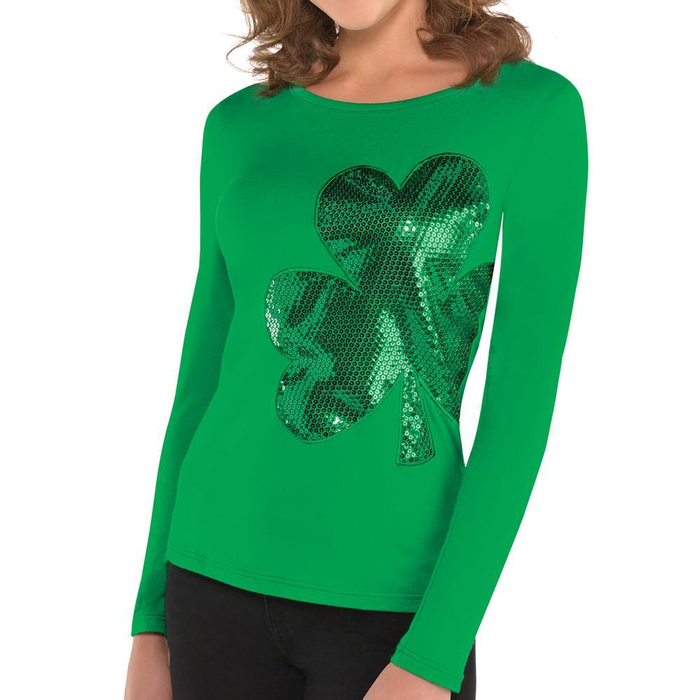 2c8e0d5e72 Amscan Green Polyester Shamrock St. Patrick s Day Women s S M Shirt ...