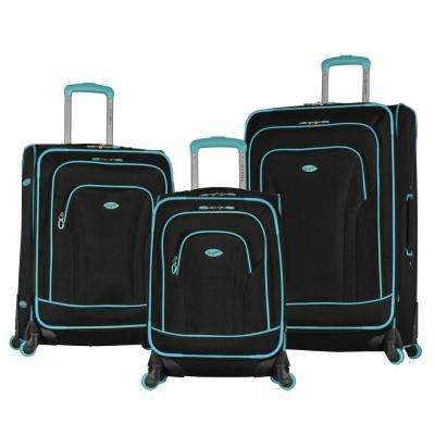 Santa Fe 3-Piece Black/Mint Expandable EVA Spinner Set
