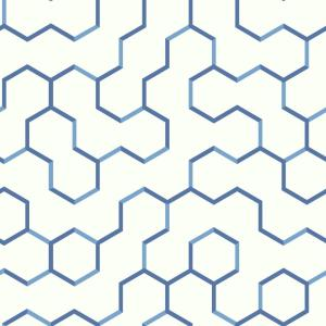 RoomMates 28.18 sq. ft. Blue Open Geometric Peel and Stick Wallpaper by RoomMates