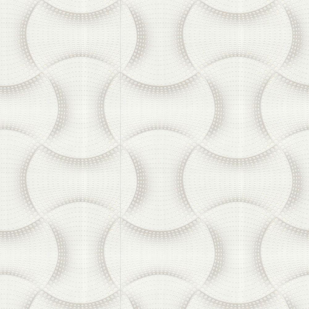 Graham & Brown 56 sq. ft. Ephemeral White Wallpaper