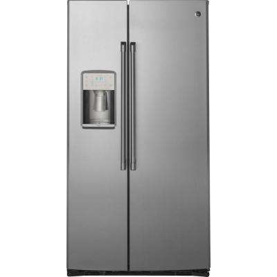 21.9 cu. ft. Built-in Side by Side Refrigerator in Stainless Steel, Counter Depth