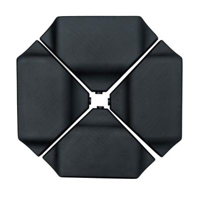260 lbs. Plastic Patio Umbrella Base Weights in Black