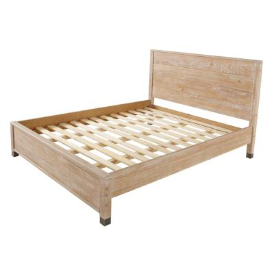 Baja Barnwood, Full Size, Panel Headboard, Platform Bed