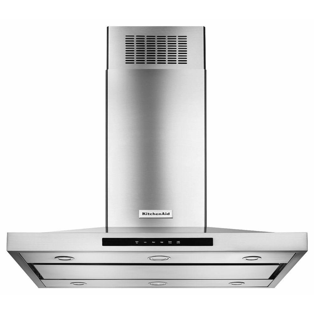 Marvelous KitchenAid 42 In. Island Canopy Range Hood In Stainless Steel KVIB602DSS    The Home Depot