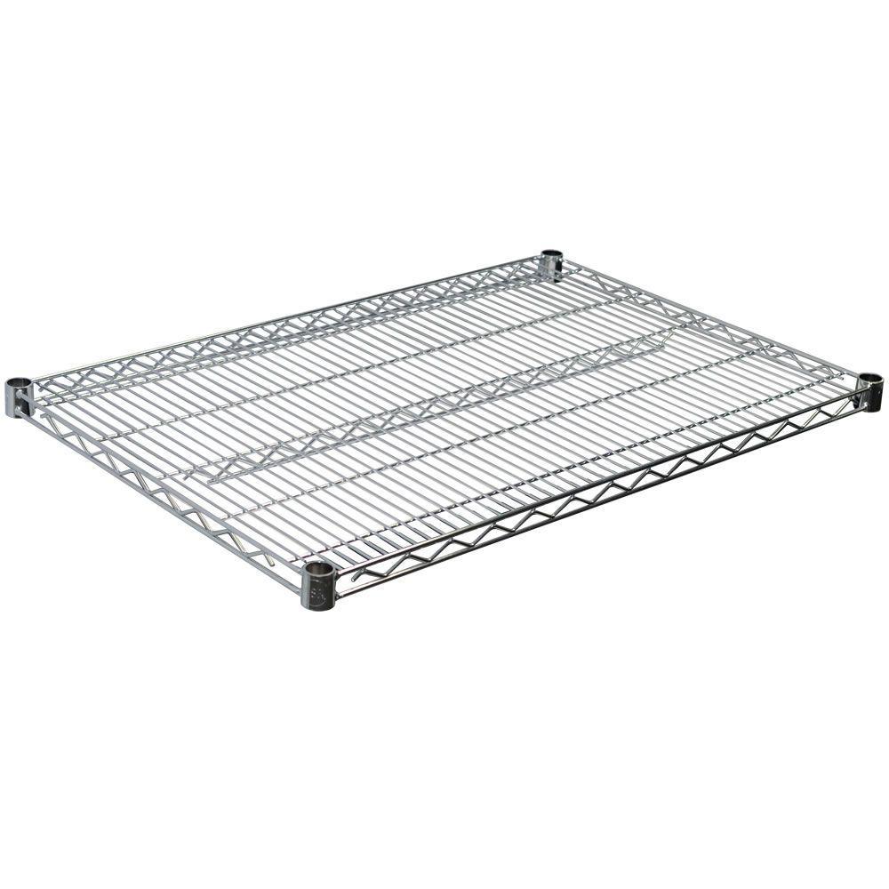 1.5 in. H x 36 in. W x 24 in. D Steel Wire Shelf in Chrome