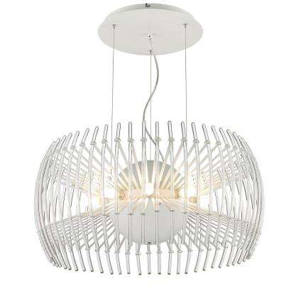 Terra 17-Light Chrome Chandelier with Clear Glass Shade