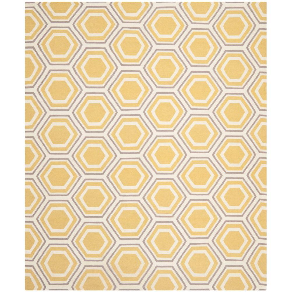 Safavieh Dhurries Ivory/Yellow 8 ft. x 10 ft. Area Rug