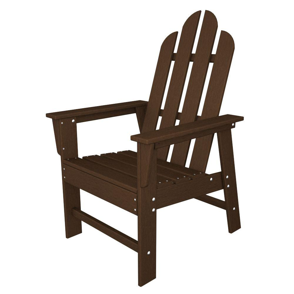 Polywood long island mahogany all weather plastic outdoor for All weather garden chairs