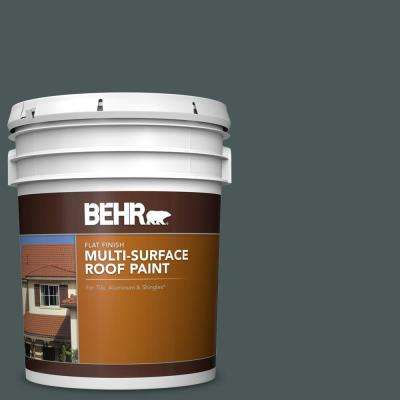 5 gal. #RP-29 Blue Pine Flat Multi-Surface Exterior Roof Paint