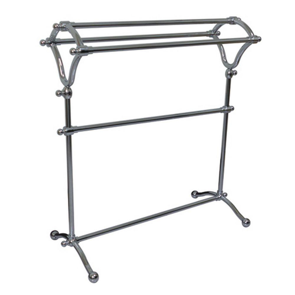 Kingston Brass Pedestal Y-Type Towel Rack in Polished Chrome