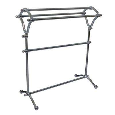 Pedestal Y-Type Towel Rack in Polished Chrome