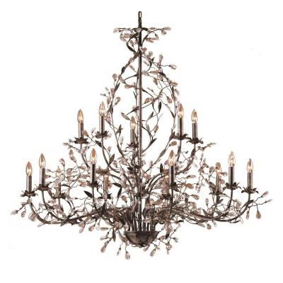 Circeo 15-Light Deep Rust Ceiling Mount Chandelier