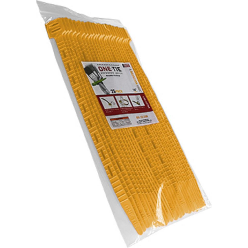 14 in. Cable Ties, Yellow (25-Pack)