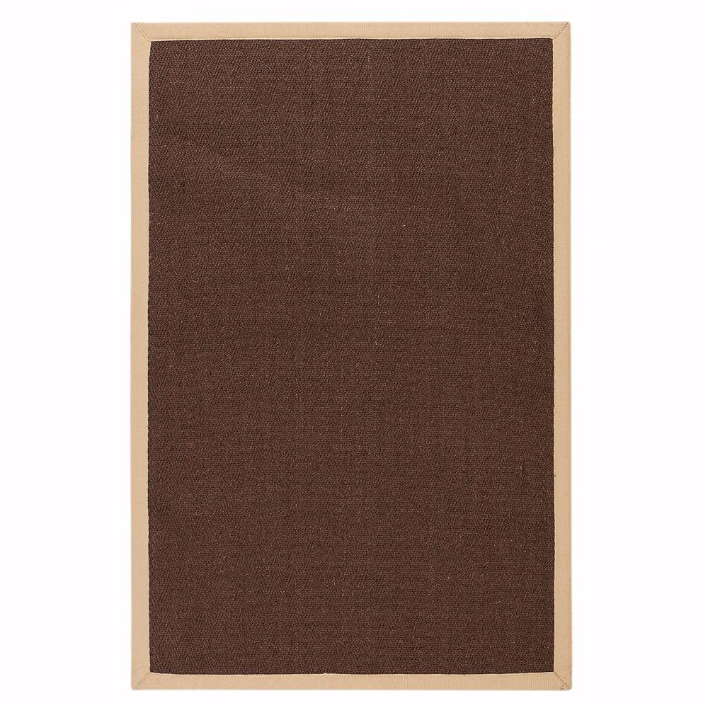 Home Decorators Collection Marblehead Sisal Chocolate and Camel 5 ft. x 7 ft. 9 in. Area Rug