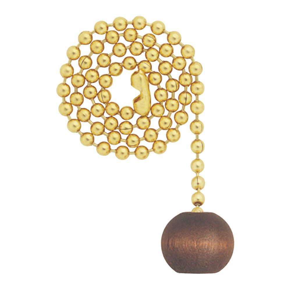 Walnut Wooden Ball Pull Chain
