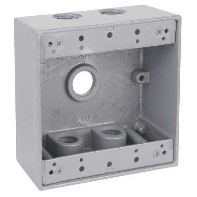 2-Gang Universal Weatherproof Electrical Box (Case of 9)