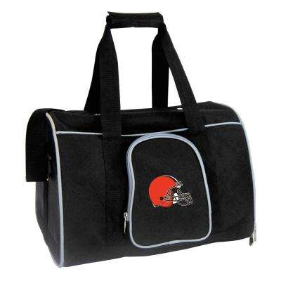 NFL Cleveland Browns Pet Carrier Premium 16 in. Bag in Gray