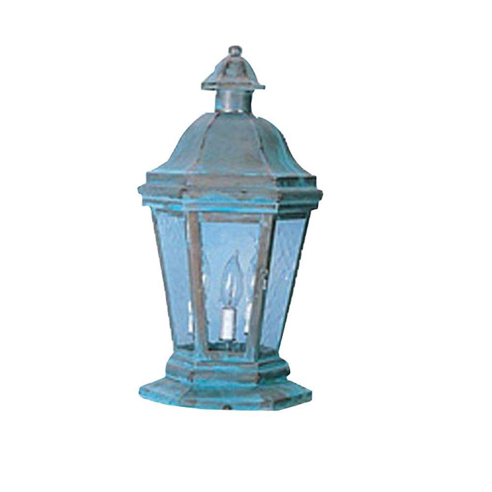 Illumine 20 in. 3-Light Distressed Brass Outdoor Lantern