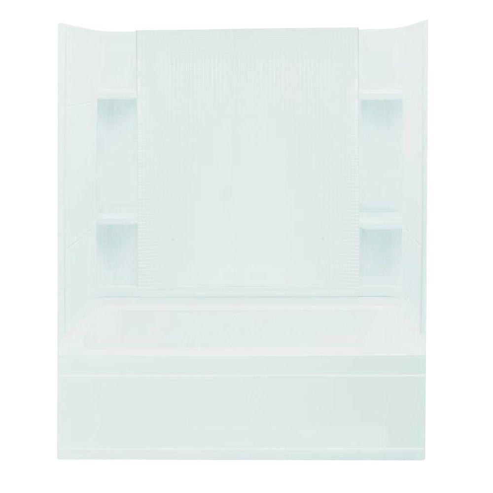 STERLING Accord 36 in. x 60 in. x 76 in. Four Piece Direct-to-Stud Bath/Shower Kit in White-DISCONTINUED