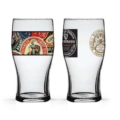 Boxed Tulip Glasses Collage and World (Set of 2)