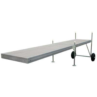 20 ft. Roll-In-Dock Straight Aluminum Frame with Removable Decking Complete Dock Package