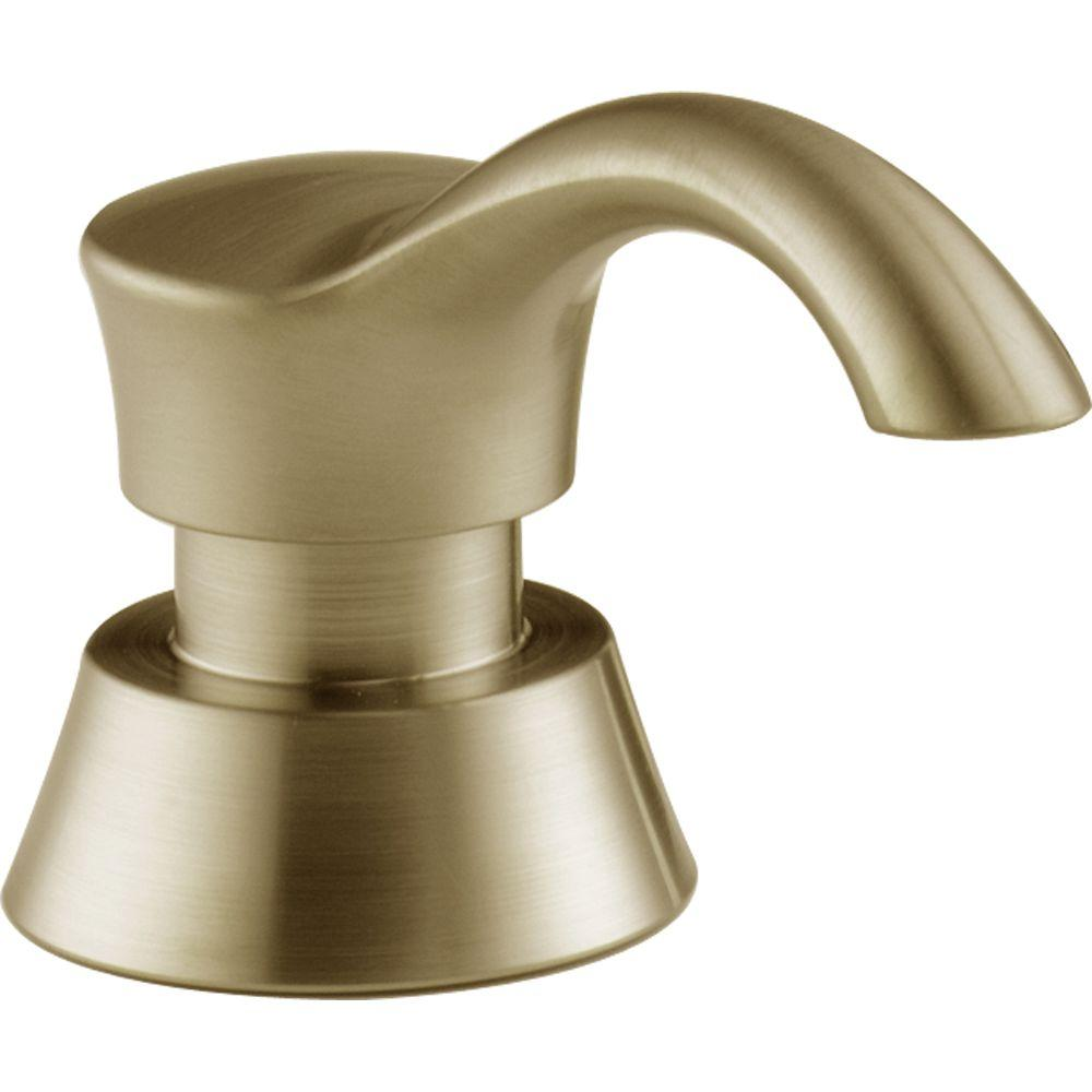 Delta Faucet Pilar Soap and Lotion Dispenser in Champagne...