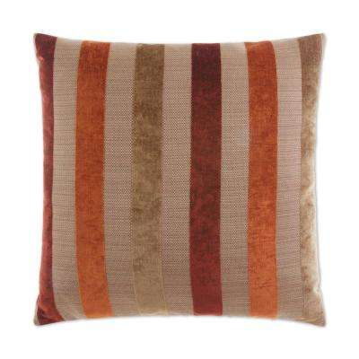 Balustrade Feather Down 24 in. x 24 in. Standard Decorative Throw Pillow