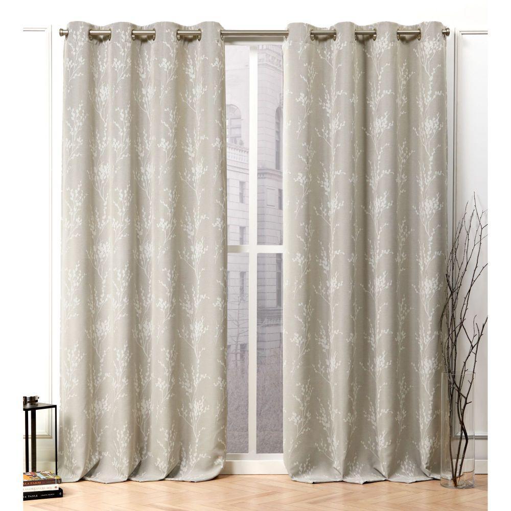 Nicole Miller Turion Linen Blackout Grommet Top Curtain