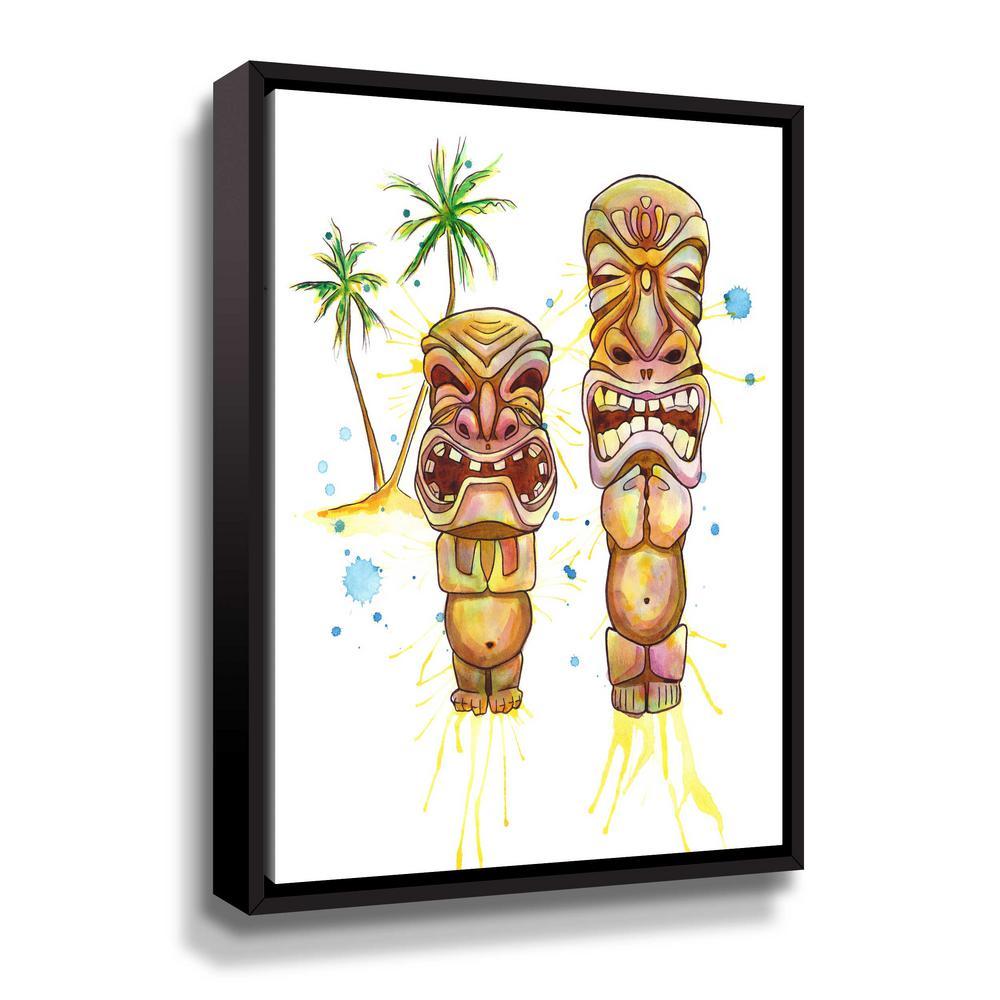 'Freaky Tiki' by  Sam nagel Framed Canvas Wall Art