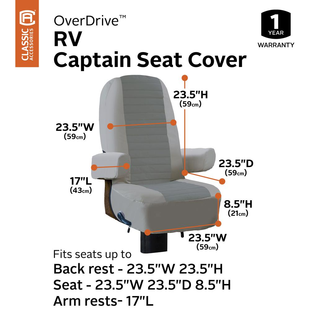 Classic Accessories Overdrive Captain Seat Cover 2 Pack 80 421 011002 Rt The Home Depot