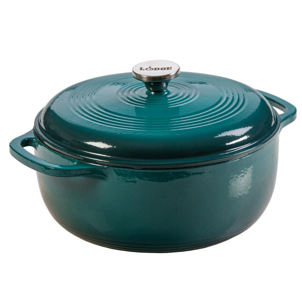 lodge 6 qt enamel cast iron dutch oven ec6d38 the home depot. Black Bedroom Furniture Sets. Home Design Ideas