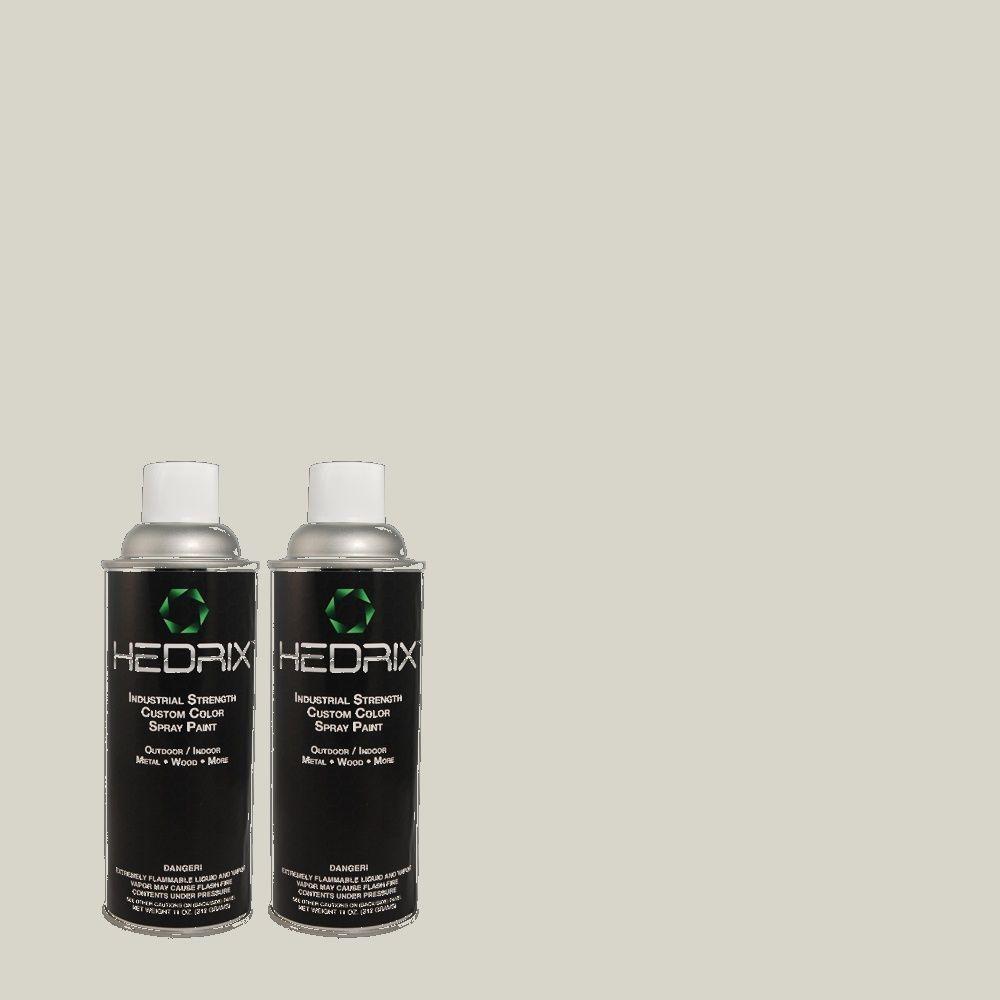 Hedrix 11 oz. Match of 1441 Silver Smoke Semi-Gloss Custom Spray Paint (2-Pack)