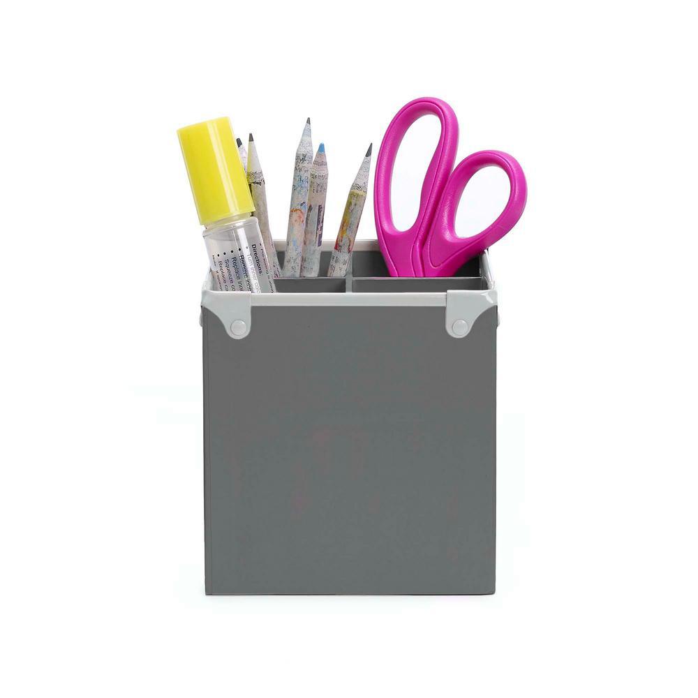 Design Ideas Frisco Paperboard Pencil Cup, Gray 3060600