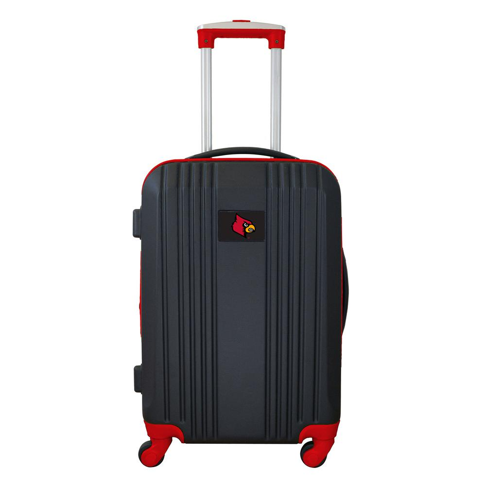 NCAA Louisville 21 in. Red Hardcase 2-Tone Luggage Carry-On Spinner Suitcase
