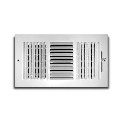 10 in. x 6 in. 3-Way Aluminum Wall/Ceiling Register