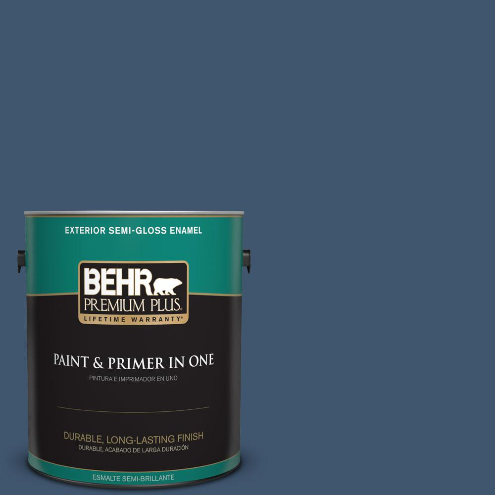 1-gal. #BXC-24 Atlantic Tide Semi-Gloss Enamel Exterior Paint