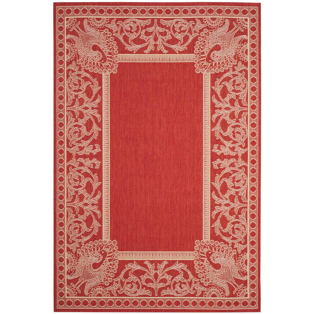 Safavieh Courtyard Red Natural 7 Ft X 10 Ft Indoor