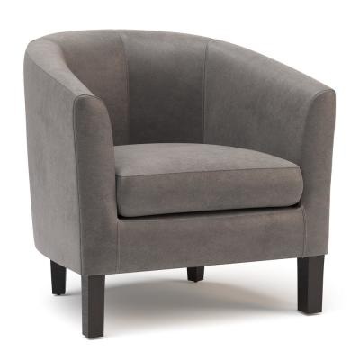Austin 30 in. Wide Transitional Tub Chair in Distressed Slate Grey Faux Air Leather