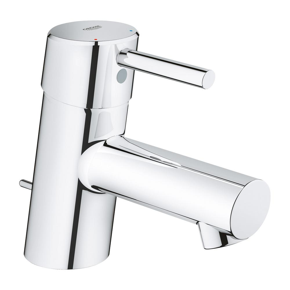GROHE Concetto Single Hole Single Handle Bathroom Faucet With Drain  Assembly In StarLight Chrome