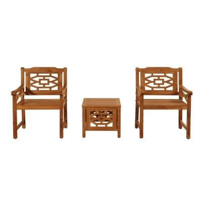 OVE Decors Malay 3-pc Wood Outdoor Bistro Set