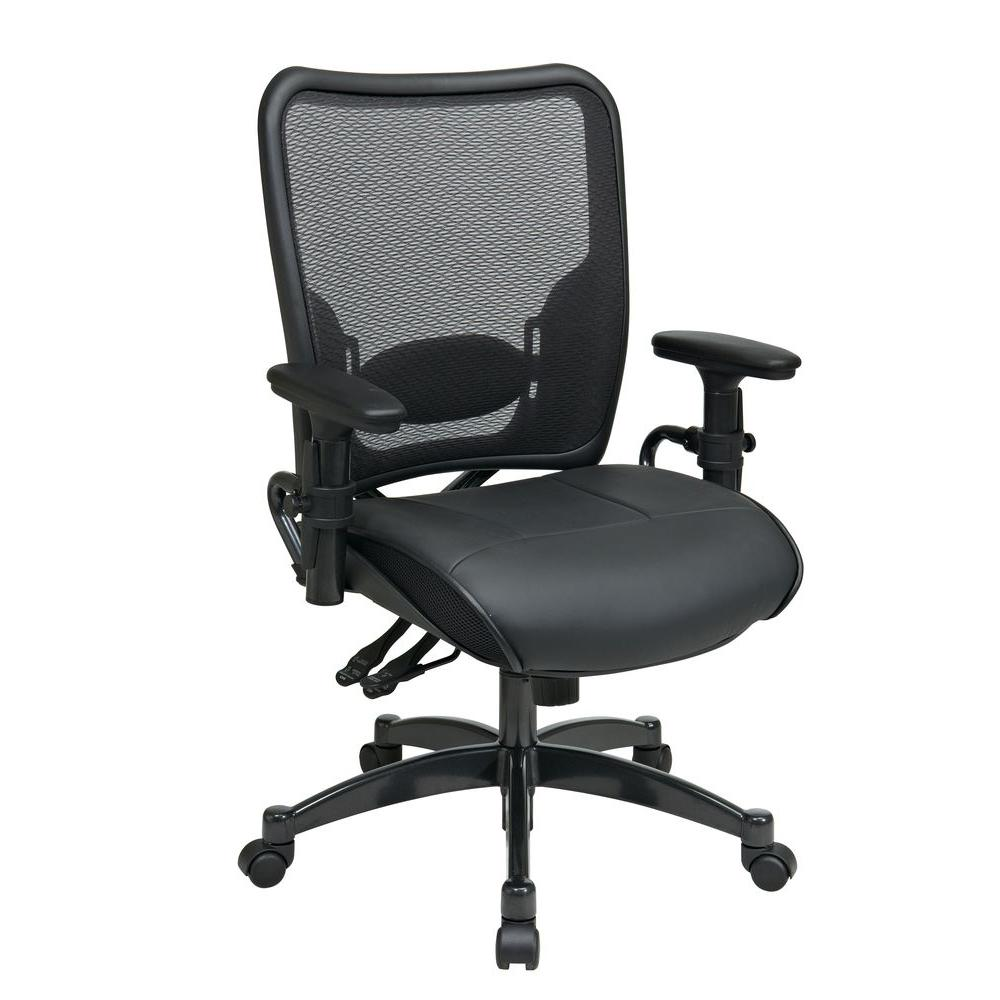Home Depot Office Chairs: Space Seating 68 Series Black AirGrid Back Office Chair