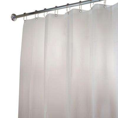 EVA Long Shower Curtain Liner In Clear Frost