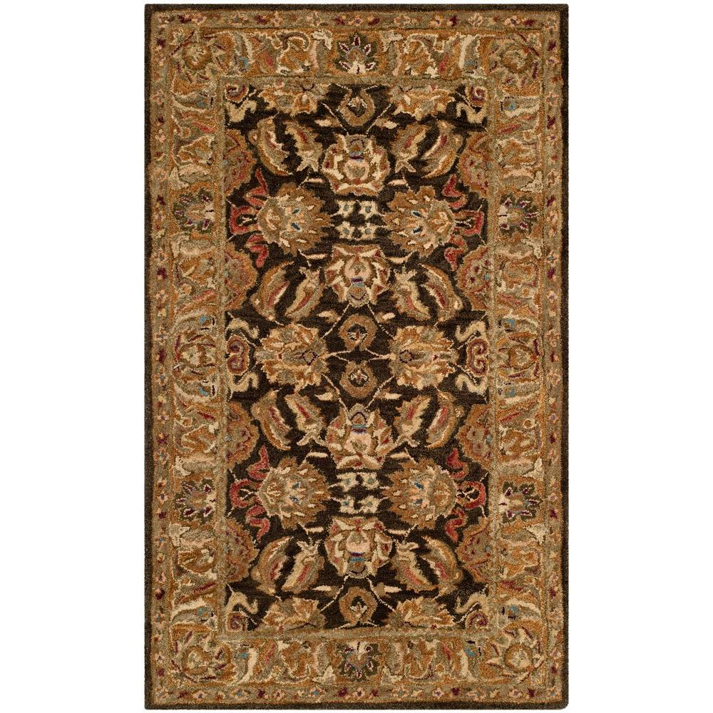 Safavieh Anatolia Dark Brown/Gold 3 ft. x 5 ft. Area Rug