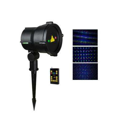 3-Light Multi Moving Remote Controllable Laser Christmas Light
