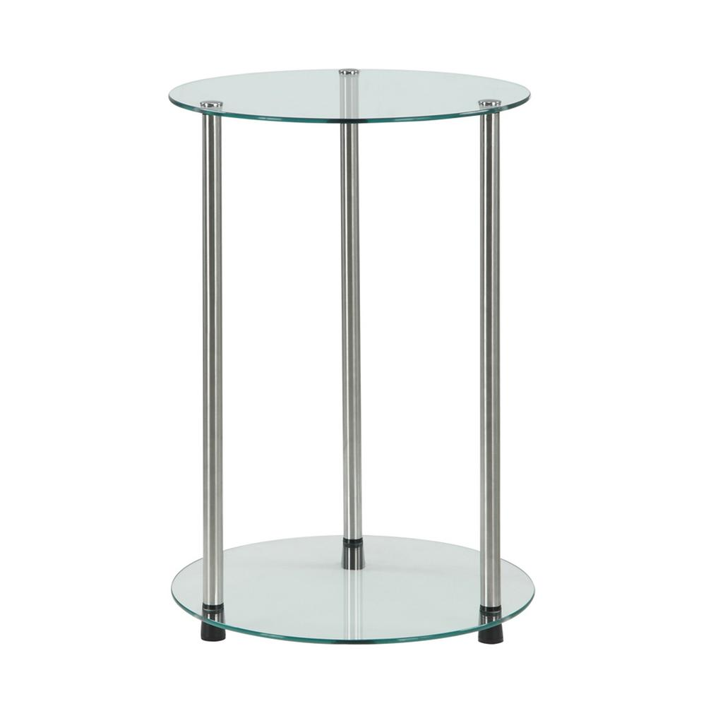 Convenience Concepts Designs2Go 2 Tier Glass End Table
