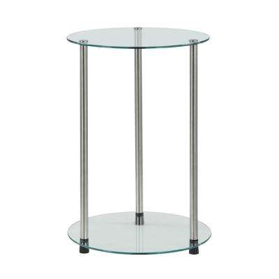 Designs2Go 2 Tier Glass End Table