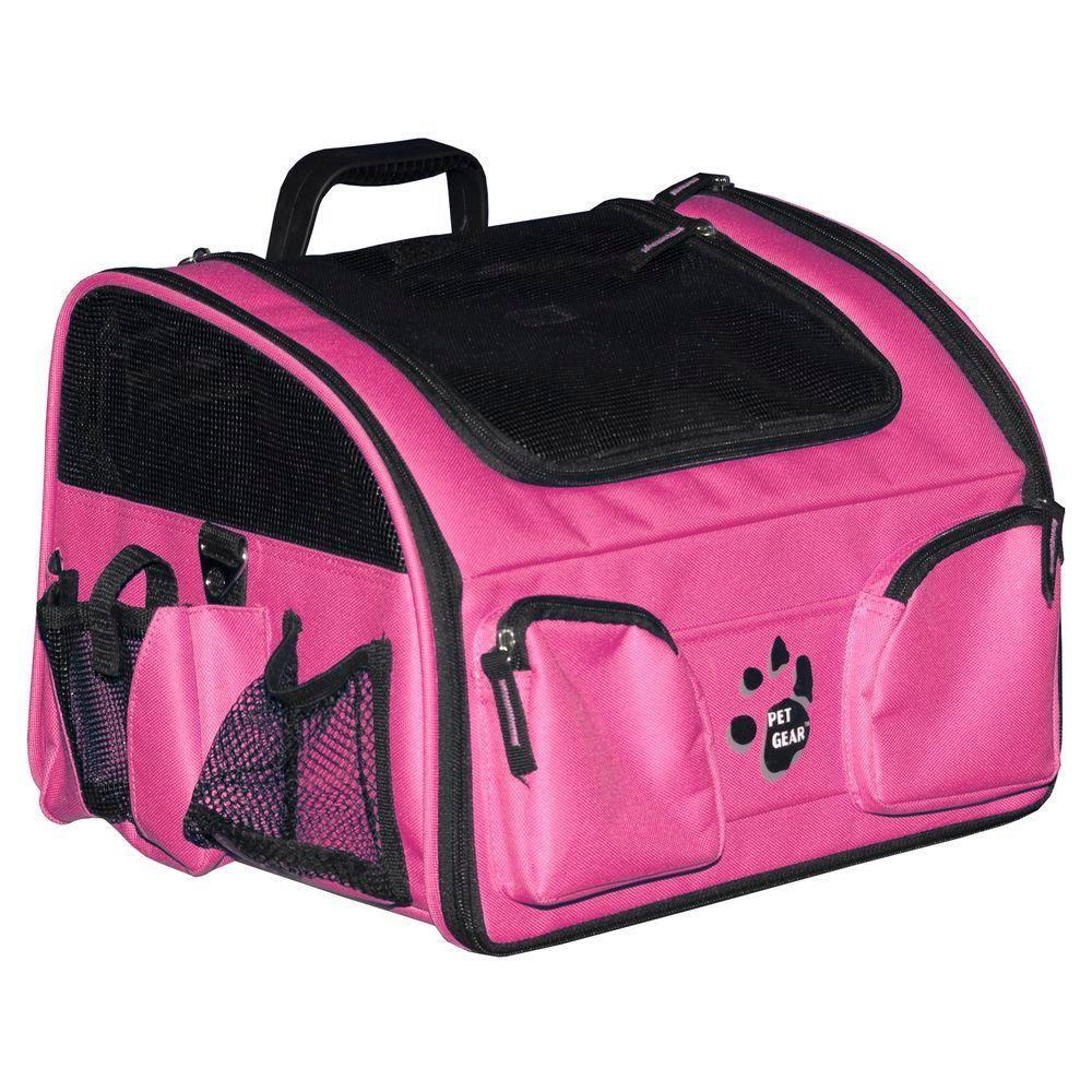 Pet Gear 14 in. L x 10 in. W x 9 in. H Pink The Ultimate Traveler