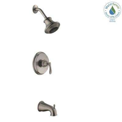 Madison Single-Handle 1-Spray Tub and Shower Faucet in Satin Nickel